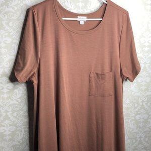 LuLaRoe Carly Swing Dress in Solid Brown